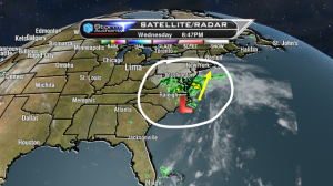 The remnants of Karen have made for a wet vacation this week for many along the East coast.