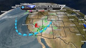 Rain, snow showers, and rain out West. I think I'll stay in Ohio!